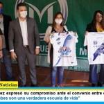 """Gustavo Menéndez expresó su compromiso ante el convenio entre el INADI y Clubes de Merlo: """"los clubes son una verdadera escuela de vida"""""""