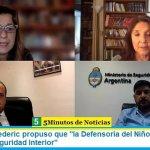 """La ministra Frederic propuso que """"la Defensoría del Niño participe en el Consejo de Seguridad Interior"""""""
