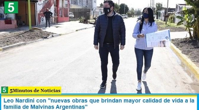 """Leo Nardini con """"nuevas obras que brindan mayor calidad de vida a la familia de Malvinas Argentinas"""""""
