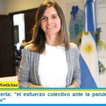 """Fernanda Raverta: """"el esfuerzo colectivo ante la pandemia debe ser puesto en valor"""""""