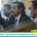 """Santiago Cafiero: """"queremos una Argentina de pie y sustentable"""""""