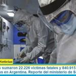 Este miércoles sumaron 22.226 las víctimas fatales y 840.915 los infectados por coronavirus en Argentina. Reporte del ministerio de Salud