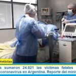Este miércoles sumaron 24.921 las víctimas fatales y 931.967 los infectados por coronavirus en Argentina. Reporte del ministerio de Salud