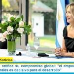 """Fabiola Yañez ratifica su compromiso global: """"el empoderamiento de las mujeres rurales es decisivo para el desarrollo"""""""