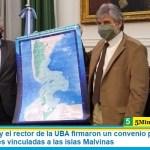 Daniel Filmus y el rector de la UBA firmaron un convenio para promover investigaciones vinculadas a las islas Malvinas