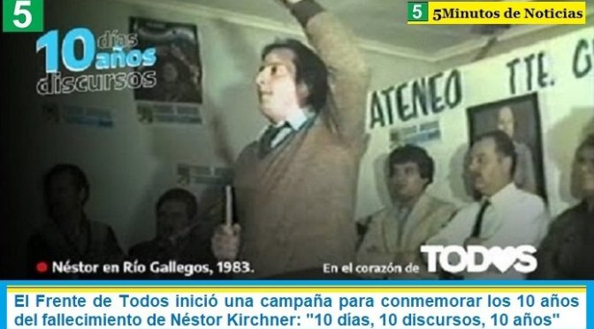 """El Frente de Todos inició una campaña para conmemorar los 10 años del fallecimiento de Néstor Kirchner: """"10 días, 10 discursos, 10 años"""""""