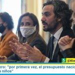 """Santiago Cafiero: """"por primera vez, el presupuesto nacional incorpora inversión para niños"""""""