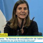 Fernanda Raverta: «la fórmula de actualización de haberes jubilatorios que impulsa el Gobierno es una fórmula virtuosa»