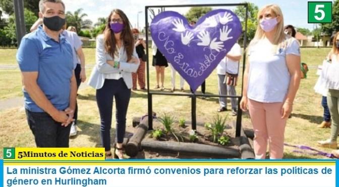 La ministra Gómez Alcorta firmó convenios para reforzar las políticas de género en Hurlingham