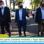 """Menéndez: """"Muchas gracias presidente Fernández y Sergio Massa por empezar la Reconstrucción Argentina con la gran obra que involucra Merlo-Morón-Moreno"""""""
