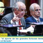 """Oscar Parrilli: """"el aporte de las grandes fortunas tiene los votos en Diputados y en el Senado"""""""