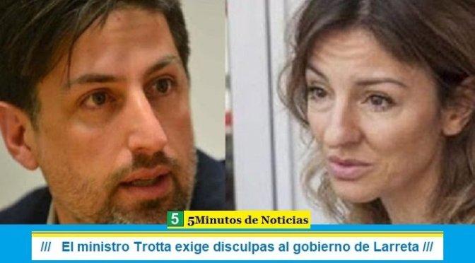 El ministro Trotta exige disculpas al gobierno de Larreta