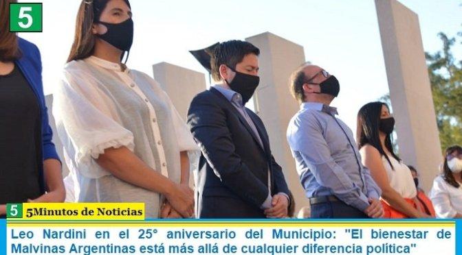 Leo Nardini en el 25° aniversario del Municipio: «El bienestar de Malvinas Argentinas está más allá de cualquier diferencia política»