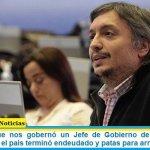 «Cada vez que nos gobernó un Jefe de Gobierno de la Ciudad de Buenos Aires, el país terminó endeudado y patas para arriba»
