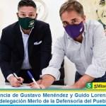 Con la presencia de Gustavo Menéndez y Guido Lorenzino entró en funciones la delegación Merlo de la Defensoría del Pueblo