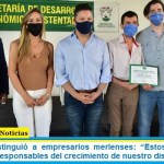 """Gustavo Menéndez distinguió a empresarios merlenses: """"Estos empresarios son grandes responsables del crecimiento de nuestro distrito»"""