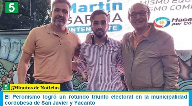 El Peronismo logró un rotundo triunfo electoral en la municipalidad cordobesa de San Javier y Yacanto