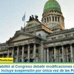 El Gobierno habilitó al Congreso debatir modificaciones del Calendario Electoral 2021 incluye suspensión por única vez de las PASO