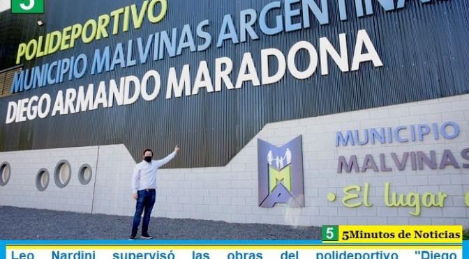 Leo Nardini supervisó las obras del polideportivo «Diego Armando Maradona» situado en Malvinas Argentinas