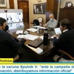 """Kreplak sobre la vacuna Sputnik V: """"ante la campaña de desprestigio contra la vacunación, distribuyamos información oficial"""""""