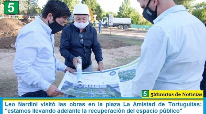 Leo Nardini visitó las obras en la plaza La Amistad de Tortuguitas: «estamos llevando adelante la recuperación del espacio público»