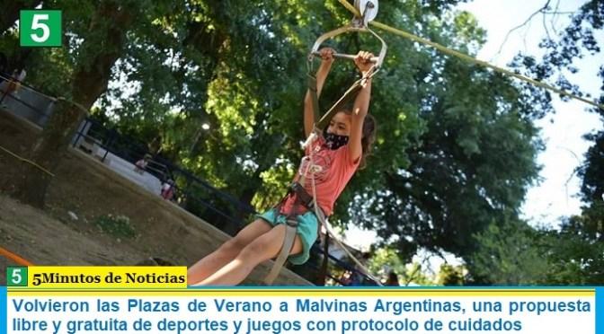 Volvieron las Plazas de Verano a Malvinas Argentinas, una propuesta libre y gratuita de deportes y juegos con protocolo de cuidados