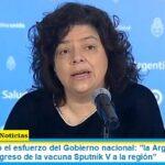 Vizzotti resaltó el esfuerzo del Gobierno nacional: «la Argentina ha sido la puerta de ingreso de la vacuna Sputnik V a la región»
