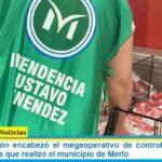 Roxana Monzón encabezó el megaoperativo de control de precios a hipermercados que realizó el municipio de Merlo