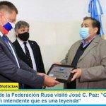 """El embajador de la Federación Rusa visitó José C. Paz: """"Quería conocer a Mario Ishii un intendente que es una leyenda"""""""
