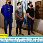 Gustavo Menéndez encabezó en Merlo el acto por la Memoria, Verdad y Justicia. Se señalizó e identificó a los intendentes de facto