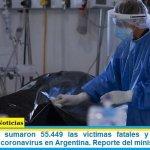Este domingo sumaron 55.449 las víctimas fatales y 2.308.597 los infectados por coronavirus en Argentina. Reporte del ministerio de Salud