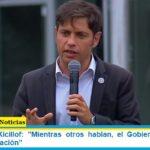 Gobernador Kicillof: «Mientras otros hablan, el Gobierno trabaja en plan de vacunación»