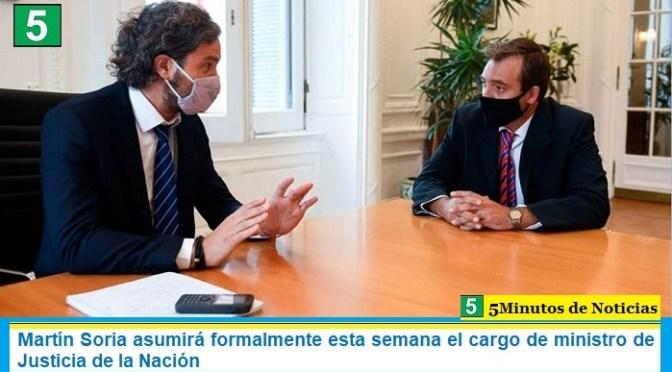 Martín Soria asumirá formalmente esta semana el cargo de ministro de Justicia de la Nación