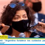 Ministra Vizzotti: «Argentina fortalece los cuidados para retrasar el aumento de casos»