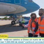 Ministra Vizzotti: «está en camino a China un vuelo de nuestra línea de bandera para traer 1.000.000 de dosis» contra el coronavirus