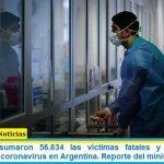 Este martes sumaron 56.634 las víctimas fatales y 2.428.029 los infectados por coronavirus en Argentina. Reporte del ministerio de Salud