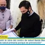 """Leo Nardini visitó la obra del centro de salud Santa María: """"Seguimos invirtiendo en la salud primaria porque es prevención"""""""