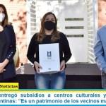 """Leo Nardini entregó subsidios a centros culturales y turísticos de Malvinas Argentinas: """"Es un patrimonio de los vecinos malvinenses"""""""