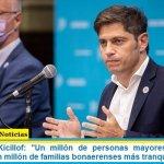 """Gobernador Kicillof: """"Un millón de personas mayores de 70 años vacunadas, un millón de familias bonaerenses más tranquilas"""""""