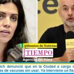 Luana Volnovich denunció que en la Ciudad a cargo de Larreta hay heladeras llenas de vacunas sin usar. Ya interviene un fiscal de oficio
