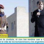 """Kicillof: """"Ni con la Justicia, ni con los medios van a impedir que el Gobierno cuide la vida de los bonaerenses y los argentinos"""""""