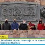 El presidente Fernández rindió homenaje a la memoria del prócer salteño Martín Miguel de Güemes
