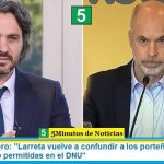 """Santiago Cafiero: """"Larreta vuelve a confundir a los porteños al anunciar actividades no permitidas en el DNU"""""""