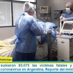 Este sábado sumaron 85.075 las víctimas fatales y 4.111.147 los infectados por coronavirus en Argentina. Reporte del ministerio de Salud