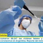 Este viernes sumaron 88.247 las víctimas fatales y 4.242.763 los infectados por coronavirus en Argentina. Reporte del ministerio de Salud