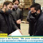 Leo Nardini apoya a las Pymes: «Me pone contento ver empresarios Pymes jóvenes que apostaron a Malvinas y a la Argentina»