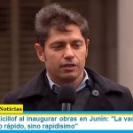 """Gobernador Kicillof al inaugurar obras en Junín: """"La vacunación viene marchando, no rápido, sino rapidísimo"""""""