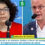 La ministra Vizzotti y el ministro Gollan a favor de trabajar en conjunto para disminuir la fragmentación del sistema de salud
