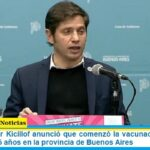 El Gobernador Kicillof anunció que comenzó la vacunación libre para mayores de 45 años en la provincia de Buenos Aires