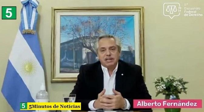 Alberto Fernández planteó un debate pendiente: «Las corporaciones y los intereses económicos influyen en la Justicia»